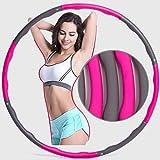 AHNIUHFJ Hula Hoop Girls Pérdida De Peso Belleza Cintura Femenina Modelos Adultos 8 Secciones Damas Desmontables Hula...