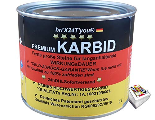 bri'X24T'you KARBID**NEU**0,500KG +Premium QUALITÄTS KARBID (Qlt.Kenz.Intern 1A/0301201139) Große Feste Steine für langanhaltende WIRKUNGSDAUER(1x 0,500KG)