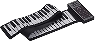 Decdeal Portable Electric 88 Keys Roll Up Piano Multifunction Digital Piano Keyboard Built-in Speaker Rechargeable Lithium...