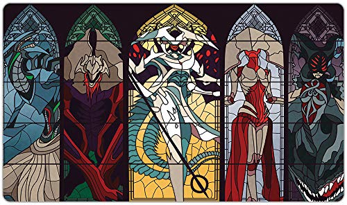 Stained Glass Praetors Playmat Inked Gaming TCG Game Mat for Cards