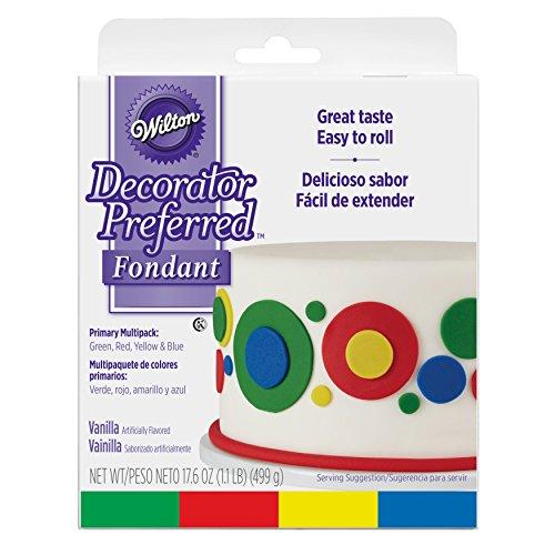 Wilton Decorator Preferred Primary Colors Fondant, 4-Pack