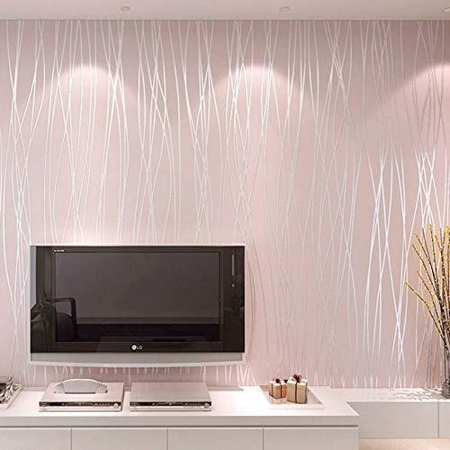 Telihome Vliestapete Moderne Einfarbig Vertikale Gestreifte Tapetenbahn Schlafzimmer Wohnzimmer Tv Hintergrund Tapeten Wohnkultur,D,0.53 * 10M