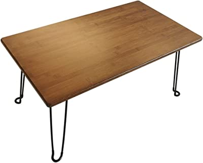 Low Table Floor Table Bed Laptop Desk Folding Low Table Lengthen Low Beach Table Low Table for Sitting On The Floor Japanese Table (Color : Brown, Size : 70 * 40 * 33cm)