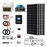 PowerECO 500 Watt (5pcs 100W Mono) Solar Panel Kit + 3000 Watt Power Inverter + Gel Battery Bank for RV, Boat, Cabin, Off-Grid 12...