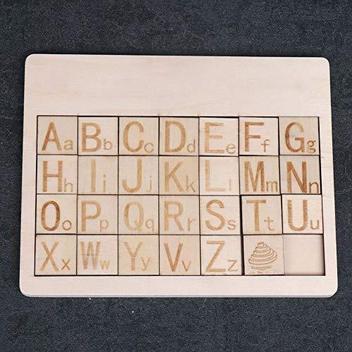 POSH Números Deslizantes De Madera Y Letras Tablero Cognitivo Puzzle Tridimensional Juguetes Para Niños Educación Temprana Educativa Educativa Juego De Juguetes Para Padres E Hijos Cerebro Juguetes Ma