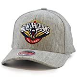 Mitchell & Ness New Orleans Pelicans Heather Classic Red Stretch Snapback NBA - Gorra, color gris gris Talla única
