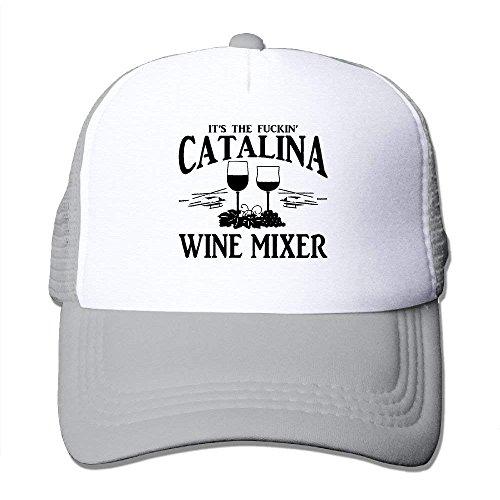 DIMAA Unisex-Adult Fuckin' Catalina Wine Mixer Mesh Dancing Cap Hat Black