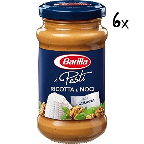 Barilla 6X Pesti Ricotta & Walnut Pesto Sauce for Pasta 190g Ready to Eat!
