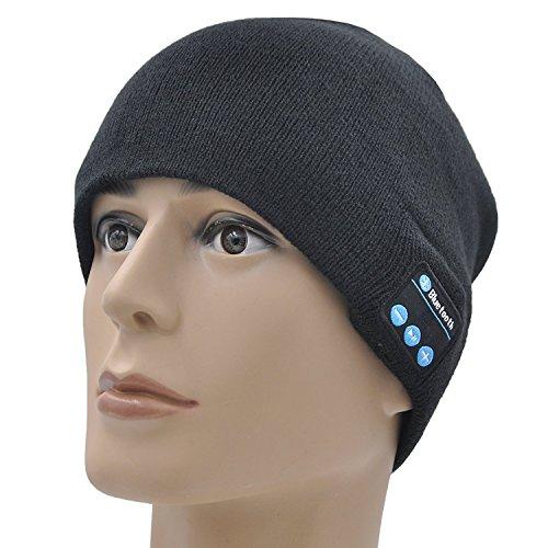 Gorro Ideapro unisex con micrófono y auricular inalámbrico Bluetooth estéreo integrados