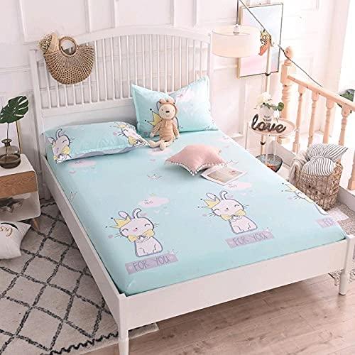 CYYyang Protector de colchón Transpirable.Rizo Bambú. Sábana de algodón Antideslizante Producto Individual-6_200x220cm