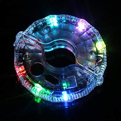 Further Luces De Cubo De Rueda De Bicicleta, 6 Colores USB Recargable Impermeable LED Ciclismo Advertencia De Seguridad De Bicicleta Luz De Decoración para Niños Y Adultos Montar De Noche