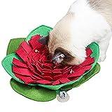 Vohoney Schnüffelteppich Hund Trainieren Schnüffeldecke Schnüffelrasen Hundespielzeug Futtermatte Trainingsmatte Pet Matten für Haustier Hunde Katzen (Rot Schnüffelteppich Hund)