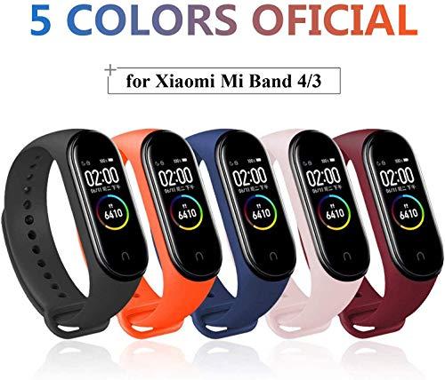 Ventdest Armband für Xiaomi Mi Band 4 / Mi Band 3, Silikon Ersatzbänder für Xiaomi Mi Band 4 / Mi Band 3 Smart Fitness Armband