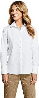 Lands' End Women's Petite No Iron Supima Cotton Long Sleeve Shirt