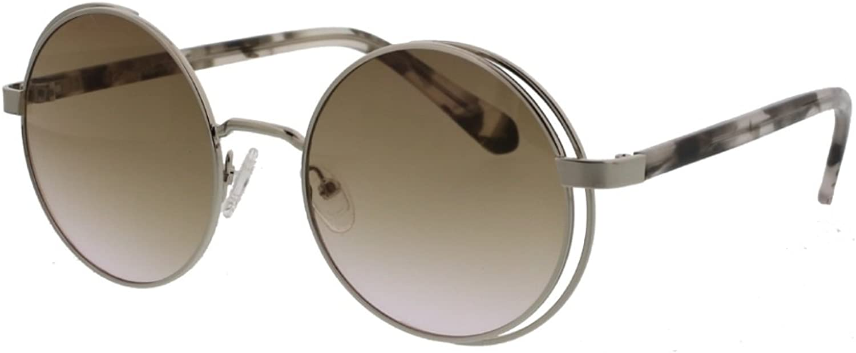 Catherine Malandrino Women's Modern Retro Extreme Caged Round Sunglasses