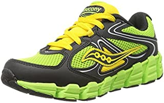 Saucony Boys Kotaro Running Shoe (Little Kid/Big Kid)Slime/Black/Yellow3.5 W US Big Kid [並行輸入品]