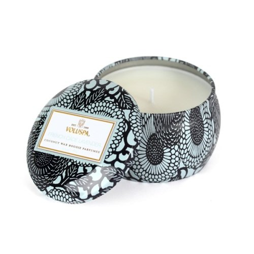 Voluspa French Cade and Lavender Decorative Tin Candle, 3.5 Ounce
