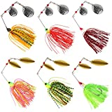 Spinnerbaits Fishing Lures Kit,Bass Buzzbait Spinner Baits Lures Double Blade Hard Metal Swimbait Trout Pike Salmon 0.64oz