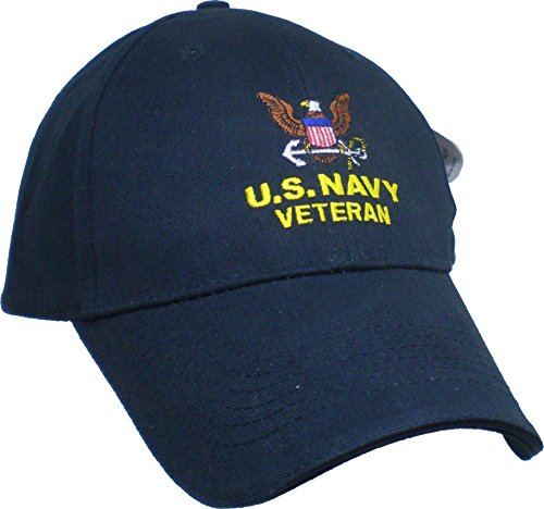US Navy Embroidered Military Cap - Navy Veteran OSFM