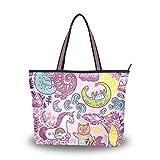 DXG1 - Bolso de tela para mujer Color-1 M (15.75'x3.54'x11.42'/40x9x29 cm)