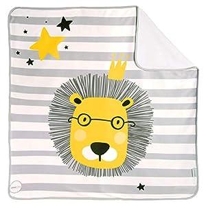 Arrullo para bebé estampado punto de algodón (80 x 80 cm) BRAVE