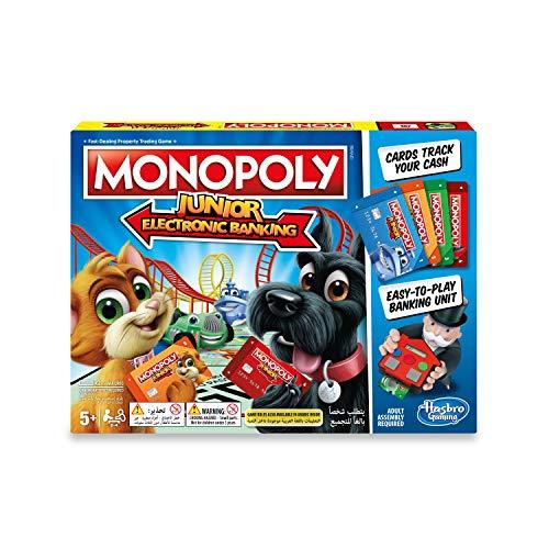Hasbro Monopoly Junior Electronic Banking Brettspiel (Wirtschaftssimulation, Junge/Mädchen, 5 Jahre, 99 Jahre, AAA)