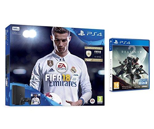 Pack PS4 500Go + FIFA 18 + Destiny 2