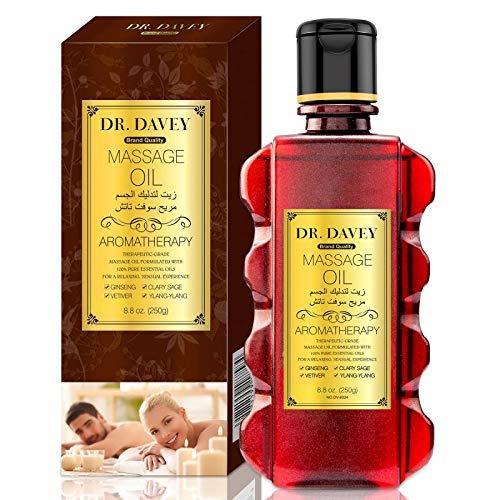 Massageöl für Erwärmen, Entspannen, Massieren Gelenkschmerzen Linderung, ideal für vor und nach dem Sport Sinnliches Massageöl Feuchtigkeitsspendendes Körperöl für Männer und Frauen 8,8 oz