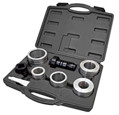 Comes in a molded storage case Expands all types of exhaust pipe, including stainless steel, from 1-5/8 inches to 4-1/4 inches in size Inexpensive alternative to hydraulic pipe expanders
