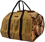Readywares Waxed Canvas Firewood Log Carrier