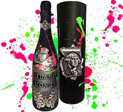 Black Money Premium-Cuvée Collector\'s Edition **streng limitert** Handarbeit in 3D DAS Geschenk für Männer Champagner Liebhaber und Millionäre
