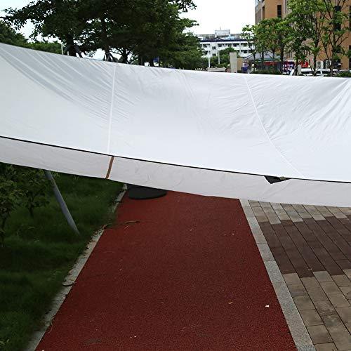 EBTOOLS Toldo Vela de Sombra Impermeable 5 x 4.5m con 4 Cuerdas de 2m, Vela de Sombra Rectangular Toldo Parasol Transpirable Plegables Portátil para Jardín Patio Terraza Balcón Exteriores