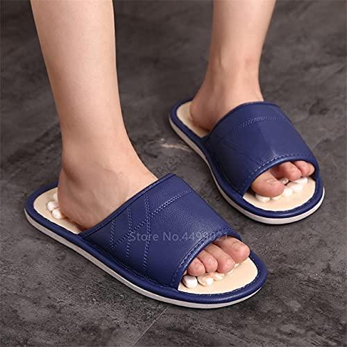 TONGTONG Unisex Acupresión Zapatos Cobblestone Masaje Pedicura Salud Zapatillas Pie Hombre Mujer Verano Playa Acupoint Interior Zapatillas