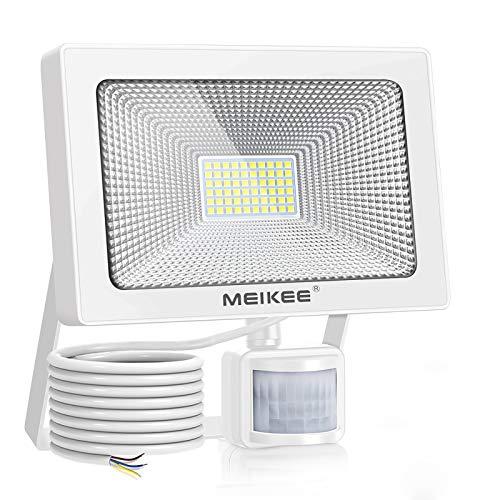 MEIKEE 54W LED Strahler mit Bewegungsmelder 5500LM 6500K superhell LED Fluter IP66 wasserdicht Außenstrahler Flutlichtstrahler Scheinwerfer Licht, ideale Wandleuchte für Garten, Garage, Sportplatz