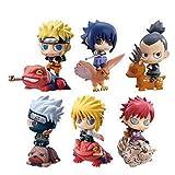 LULUDP Modelo de animación Modelo de Personaje de Anime Naruto Primera Bomba Naruto Sasuke 6 Colección/Regalo de cumpleaños - Juguetes de PVC para Adultos Modelo Infantil (6cm)