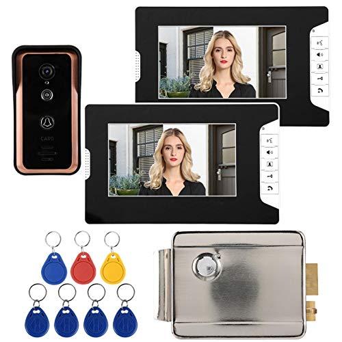 Timbre con Video, Equipado con 7 Tarjetas RFID, un botón de Interruptor, una(Australian regulations (100-240V))
