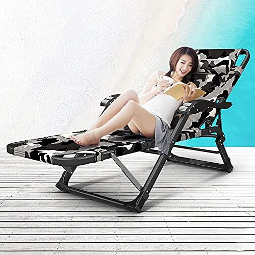 Cátedra plegable al aire libre reclinable Silla de la silla de la cubierta de la silla de la silla de la silla de la silla de la silla del patio: plegable reclinable silla de la oficina de la oficina,