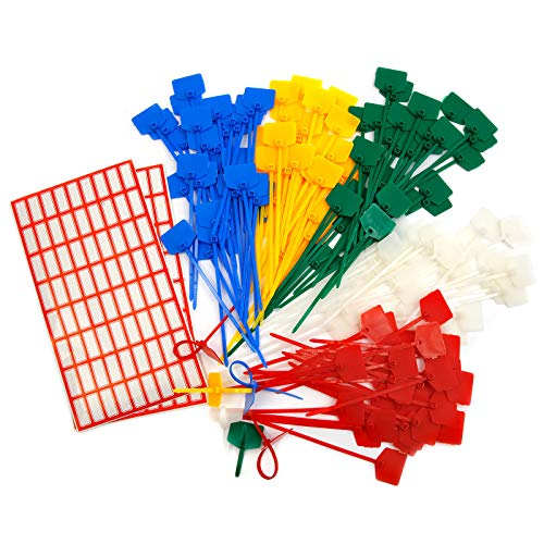 Anladia 150 Pieces 120 mm Colourful Cable Ties Tags Labels Self Locking Cable with Free Printable Labels for Marking and Organising Cables Cable Management Cable Markers DIY