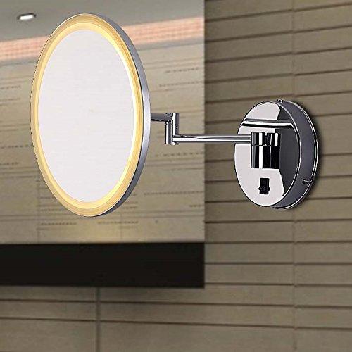 LUMONDE - Applique LED Fonction Miroir, 8, 5W, Style Design et Décoratif avec bras amovible, Parfait pour la Salle de Bain, Couleur Chrome
