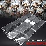 farmer-W 20 / 50PCS Bolsa de Cultivo de engendro de Setas, Bolsa de Cultivo de Hongos comestibles Bolsa de engendro de Setas de Granja sellable PVC Resistente a Altas temperaturas