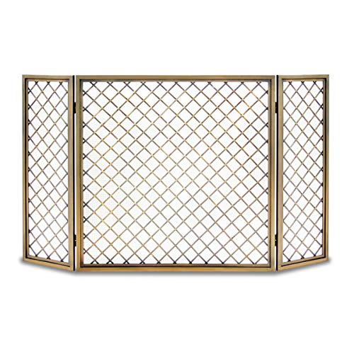 Review Of Pilgrim, Antique Brass Home and Hearth 18243 Hartwick Tri Panel Fireplace Screen, 48 W x ...