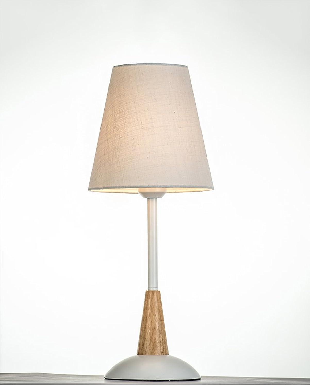 HOME Schlafzimmer Nachttischlampe kreative Moderne Minimalist Scandinavian Dekorationen Cozy warmes Licht Stoff Nachttischlampe ( Farbe   Wei )
