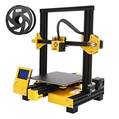 DjfLight Imprimante 3D, Structure métallique Semi assemblée avec Plaque de Surface de Construction Amovible, Volume de Construction 220x220x250 mm, pour Une Utilisation Domestique et Scolaire