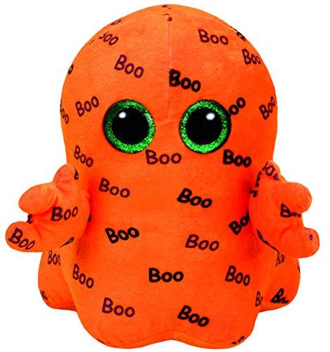 Carletto Ty Ty 37079 Ghoulie Geist mit Glitzeraugen, Beanie Boo's, Halloween limitiert, Plüsch, 24 cm, orange