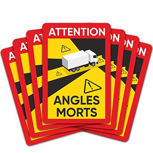 lepni.me 12 Stück Angles Morts Winkel Morts Selbstklebende Aufkleber Schwergewicht Trucks über 3,5 t