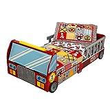 KidKraft 76031 Cama infantil con diseño camión de bomberos con marco de...