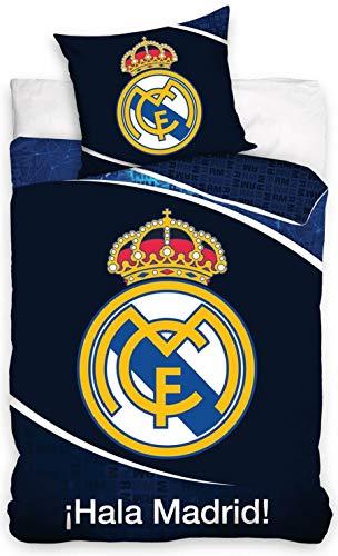 Real Madrid Carbotex Bettwäsche 135x200cm + 80x80 cm Kinderbettwäsche Set RM186007-135