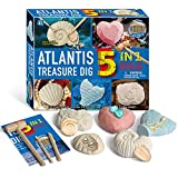 WULAU 5 In 1 Atlantis National Geographic Archaeology Kit, Gemstone Digging Kits Toys for Boys and Girls, Lost City Great Science Excavation Kits for Kids