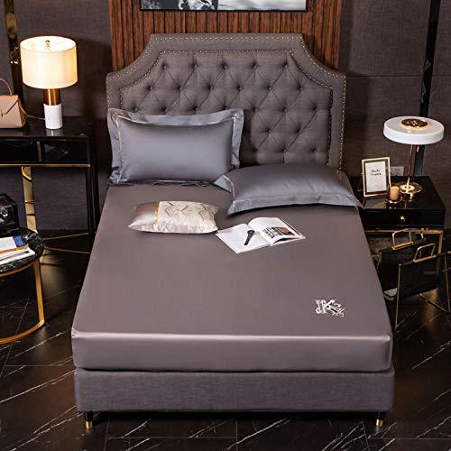 LCFCYY RopadeCamasábanas,Sábanas Ajustadas de algodón Suaves y cómodas,sábana de Cama Antideslizante con Bordado de Color sólido para Dormitorio,Hotel,N 120 * 200cm