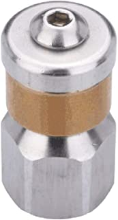 Challco Sewer Jetter Nozzle for Pressure Washer, Drain Jetter Hose Nozzle,Rotating,1/4-Inch Female NPT,4000PSI